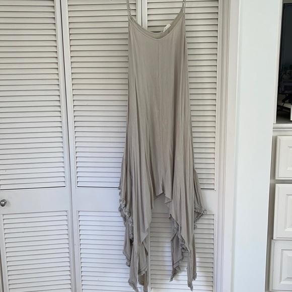 Handkerchief spaghetti strap dress